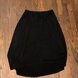 Eileen Fisher black peasant hi lo skirt. XS